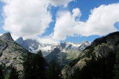 Mont Blanc italienska fjällängar Arkivbilder