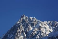 Mont Blanc - l'Aiguille du Midi Imagen de archivo libre de regalías