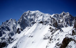 Mont Blanc, l'più alta montagna di Europa Immagini Stock Libere da Diritti