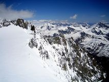 Mont Blanc, l'più alta montagna di Europa Fotografie Stock Libere da Diritti