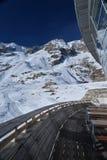 Mont Blanc lato alza, delle alpi italiane e francesi, Italia Fotografia Stock