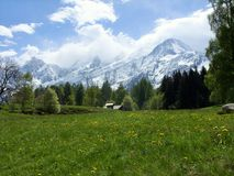 Mont Blanc in Les Houches, France royalty free stock image