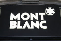 Mont Blanc logo Royalty Free Stock Images