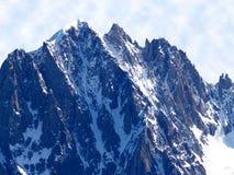 Mont Blanc maciço Fotografia de Stock Royalty Free