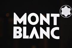 Mont Blanc marca a caldo il marchio Fotografia Stock