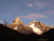 Mont Blanc Masif 02 stockbild