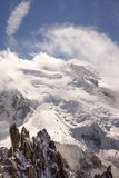 Mont Blanc-massief in de Franse Alpen stock afbeeldingen