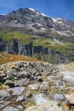 Mont Blanc-massief in Zwitserse Alpen, Zwitserland Royalty-vrije Stock Foto's