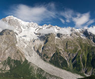 Mont Blanc massif Royalty Free Stock Photo