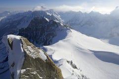 Mont Blanc massif Stock Images