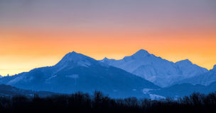 Mont Blanc Massif Royalty Free Stock Photos
