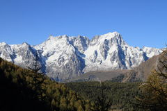 Mont Blanc massif in autumn Stock Images