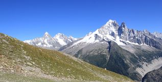 Mont-Blanc massif, Chamonix, France Royalty Free Stock Photo