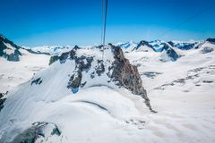 Mont Blanc massif,in the Chamonix mont blanc.  Stock Photography