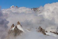 Mont Blanc Massif, França imagens de stock royalty free