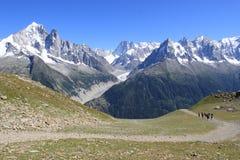 Mont-Blanc massif, France Royalty Free Stock Image