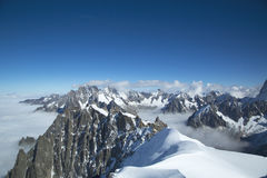 Mont Blanc massif in the French Alps Stock Images