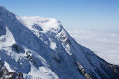 Mont Blanc massif in the French Alps Stock Photography