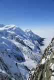 Mont Blanc massif in the French Alps Royalty Free Stock Photography