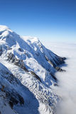 Mont Blanc massif in the French Alps Royalty Free Stock Photo