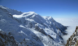 Mont Blanc massif in the French Alps Stock Photo