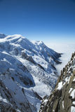 Mont Blanc massif in the French Apls Royalty Free Stock Photo