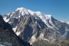 Mont Blanc massif from Grands Montets Royalty Free Stock Image