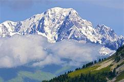Mont Blanc massif of La Plagne in France Stock Image