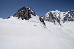 Mont Blanc Massif Royalty Free Stock Photography