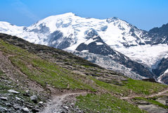 Mont Blanc massif nice view Royalty Free Stock Photography