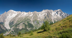 Mont Blanc massif panorama Royalty Free Stock Photos