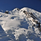 Mont Blanc Massif panoramic view Royalty Free Stock Images