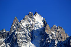 Mont-Blanc massif rock and snow Royalty Free Stock Photo