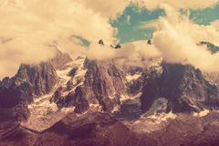 Mont Blanc Massif Scenery Royalty Free Stock Photography