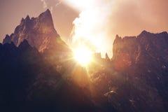 Mont Blanc Massif Sunset Royalty Free Stock Image