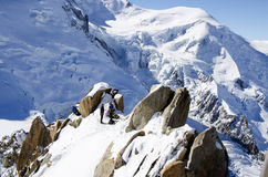 Mont Blanc Massif Stock Photography