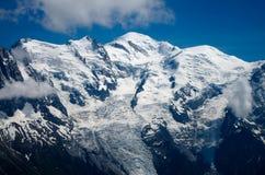 Mont-Blanc massiv stockbild