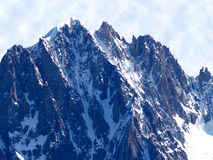 Mont Blanc massive Royalty Free Stock Photography