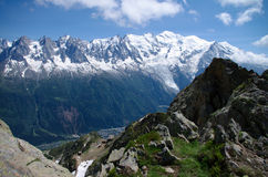 Mont-Blanc massive Royalty Free Stock Image