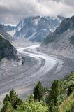 Mont Blanc, Mer de Glace Fotografering för Bildbyråer