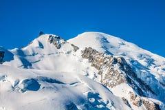 Mont Blanc, Mont Blanc Massif, Chamonix-Mont-Blanc, alpi, Francia Fotografia Stock Libera da Diritti