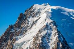 Mont Blanc, Mont Blanc Massif, Chamonix-Mont-Blanc, alpi, Francia Immagine Stock