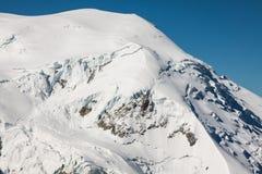 Mont Blanc, Mont Blanc Massif, Chamonix-Mont-Blanc, alpi, Francia Immagine Stock Libera da Diritti