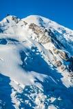 Mont Blanc, Mont Blanc masyw, Chamonix, Alps, Francja Fotografia Stock