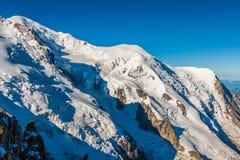 Mont Blanc, Mont Blanc masyw, Chamonix, Alps, Francja Fotografia Royalty Free