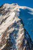 Mont Blanc, Mont Blanc masyw, Chamonix, Alps, Francja Obraz Stock