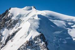Mont Blanc, Mont Blanc masyw, Chamonix, Alps, Francja Zdjęcie Stock