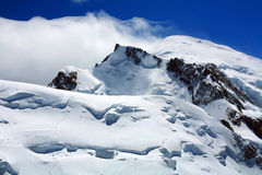 Mont Blanc and Mont Maudit Stock Photos