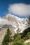 Mont Blanc - Monte Bianco Fotografia Stock