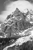 Mont Blanc mountain Royalty Free Stock Photography